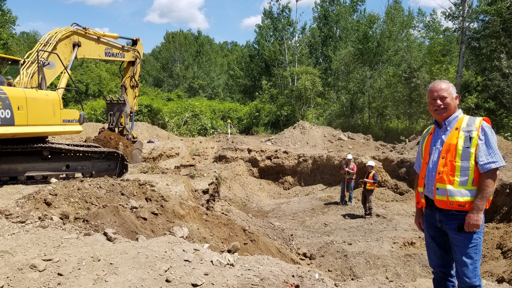 Ken Anthony, Woodstock's chief administrative officer, at the site of the new pump house for Woodstock's second wellfield in Grafton. Work on the project started Monday. The project is expected to be completed  in late fall.