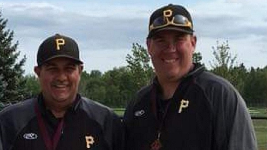 Port City Pirates head coach Tom Galbraith (left) and assistant coach Jason McCarthy will use the team's time in the Southern New Brunswick Baseball League to prepare for provincial midget AAA competition next month.