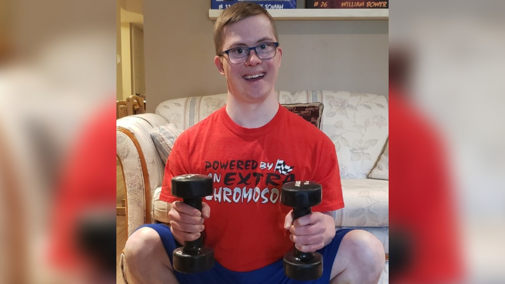 Special Olympics star Jonathan Henry of Dieppe has kept busy during the COVID-19 pandemic. He's made video workouts for 108 days - and counting - and gained many fans on social media.