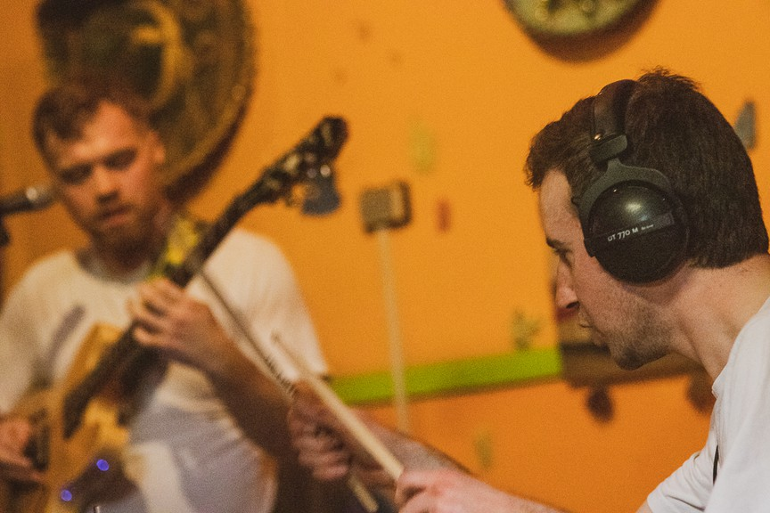 Jeff Cook, left, and Scott Dincorn, right, make up the Saint John band Nurture Nurture. Their new single will release on Aug. 14.
