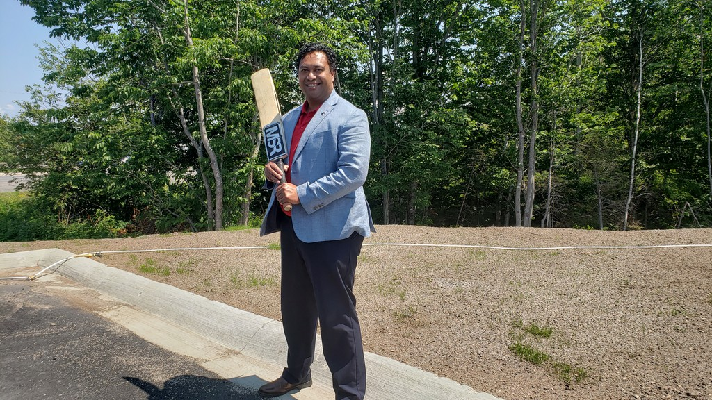 Dunu Eliaba, one of the founders of the Fredericton Loyalists cricket club, is happy to see the city considering a dedicated cricket pitch as part of its study on ball field use in the city..
