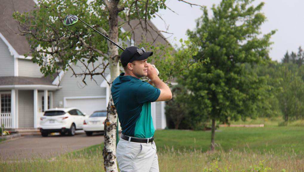 Fox Creek Golf Club's Justin Richard is tied for third place after the first round of the New Brunswick men's amateur golf championships at Royal Oaks Golf Club.