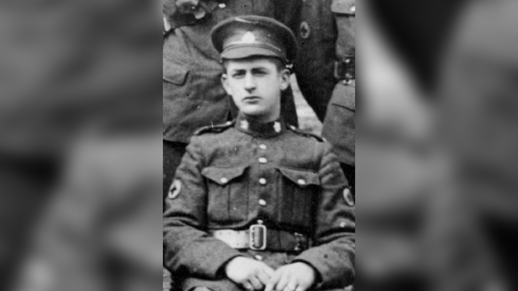 Local soldier Edward MacPherson was killed in a ship sinking in 1918, toward the end of the First World War.