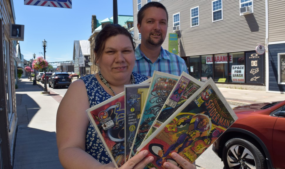 Lily Babineau and her husband TJ Verge, opened Comic Alley in August. Babineau said business has been steady despite opening during a global pandemic.