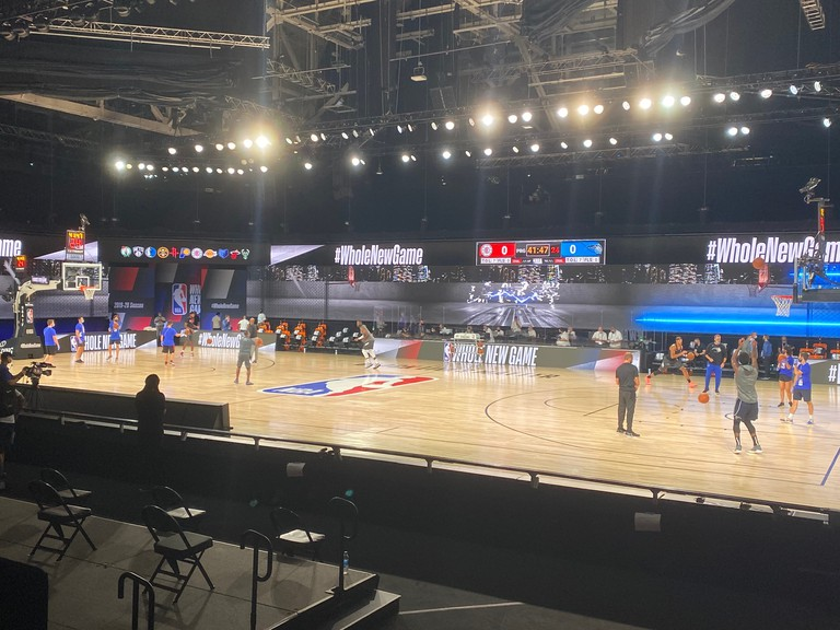 The Arena at the ESPN Wide World of Sports Complex near Disney World has been turned into a made-for-television stage that will host the NBA Finals and conference finals.