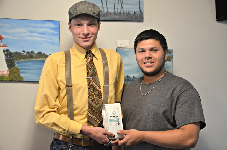 Emmanuel Newman, left, and Roman Francis co-own Bloom Coffee, a new company Francis started in March while participating in an entrepreneurship program at school.