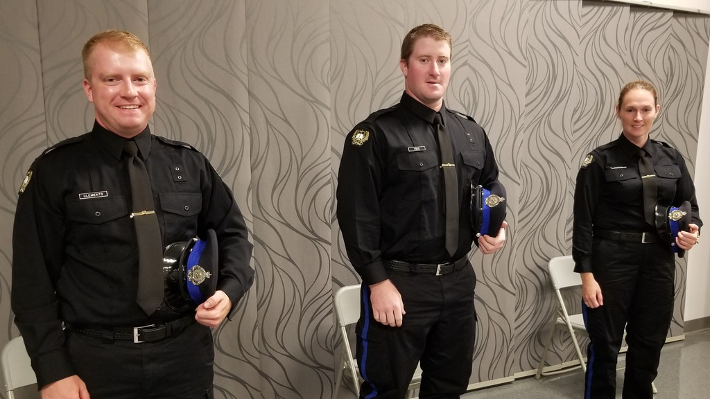Cadet Const. Joe Clements, Const. Ryan Paul, and Const. Abby Derrah have joined the Woodstock Police Force for the summer.