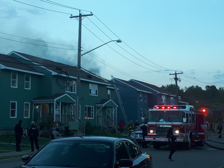 Fire crews responded to the scene of a blaze on MacLaren Boulevard on Tuesday evening.