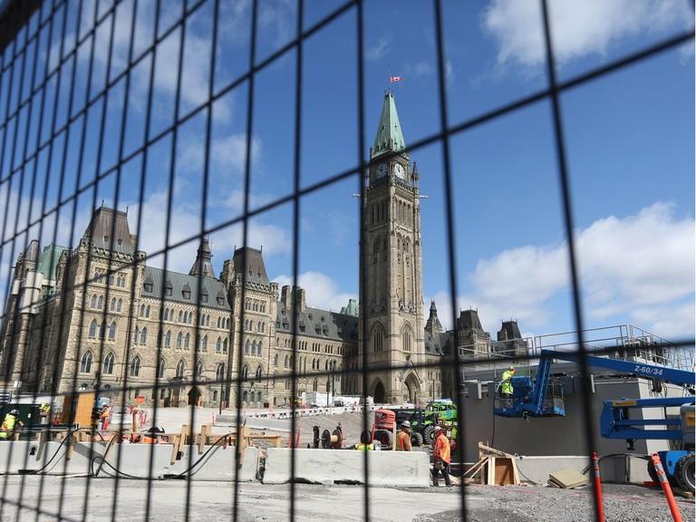 Parliament Hill in Ottawa, seen on April 22, 2020.