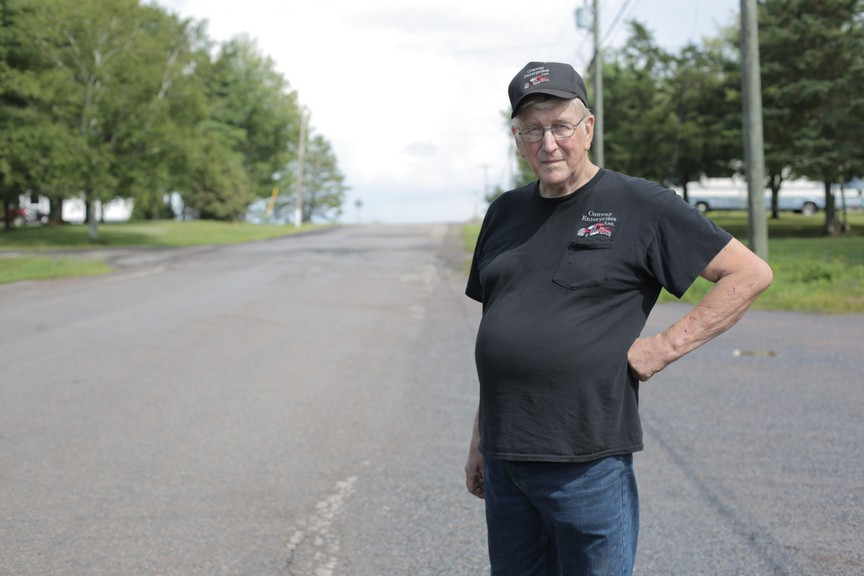 Business owner and resident Oscar Conway says the problem of speeding vehicles is serious but if the province stops through traffic, it may provide a solution.