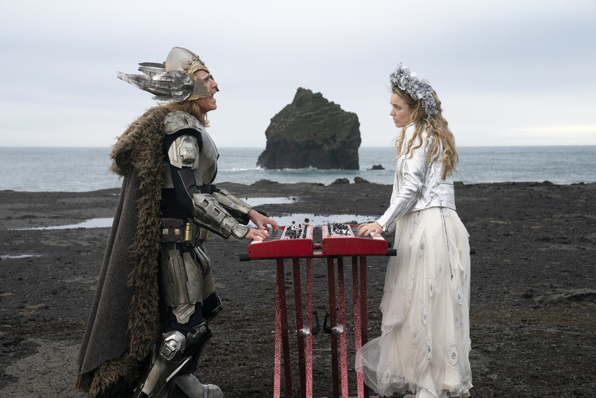 Will Farrell and Rachel McAdams in a scene from Eurovision Song Contest: The Story of Fire Saga.