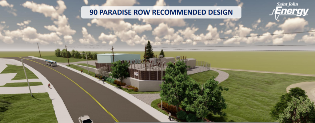 The proposed design for the new substation at 90 Paradise Row. It would replace the Smythe Street substation.