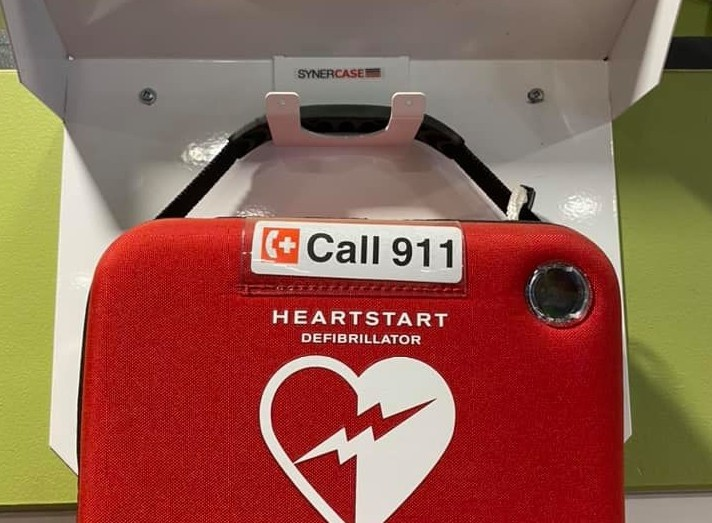 A new defibrillator is now available for public use in the crew room of the ferry at Belleisle Bay.
