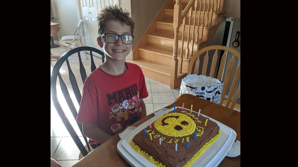Thomas turned 13 on July 24.