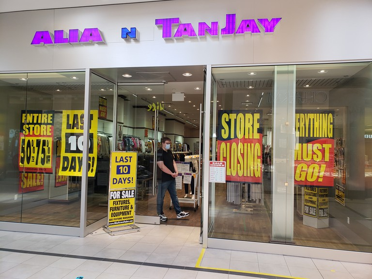 Alia and Tanjay, a women's clothing store in the Regent Mall, will soon close.