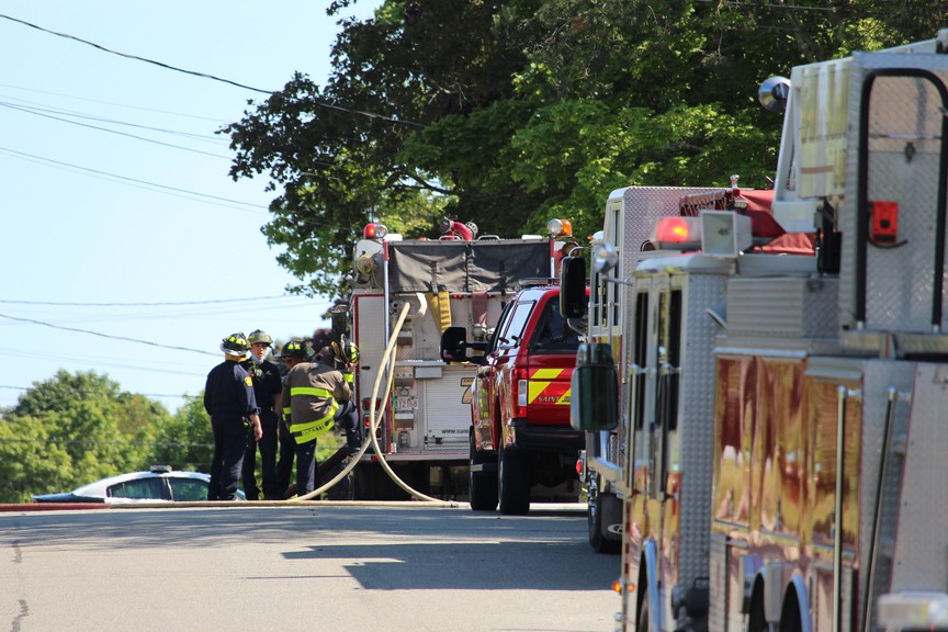 In this file photo, Saint John fire trucks respond to a house fire.