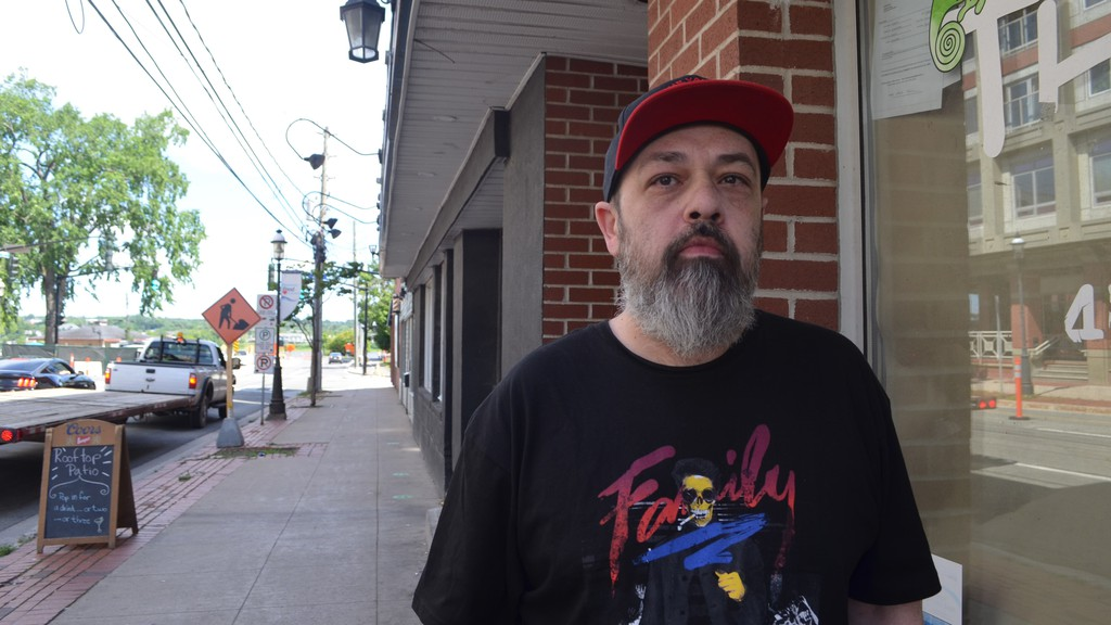 Jason Arbeau received notice last Friday that he had until Nov. 1 to move out of his unit in a rooming house on Regent Street, where he's lived for the past 24 years. On income assistance, Arbeau said he's uncertain he'll be able to find something else that's as affordable.