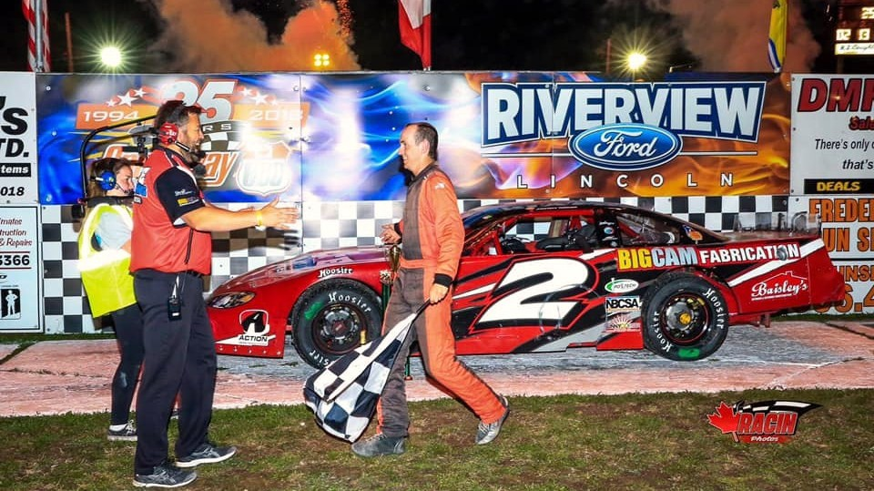 Ashton Tucker of Lyttleton is shown in victory lane after winning the pro stock 250-lap feature - and more than $21,000 - on SpeedWeekend last September at Speedway 660. He'll be back at the Geary track Saturday night for a 150-lap race.
