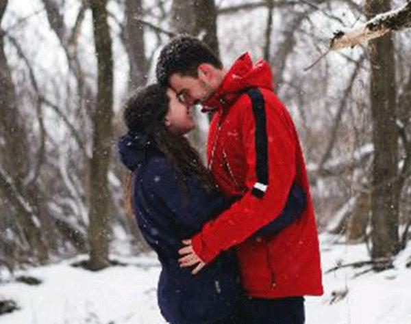 Sarah Campbell and her fiance, Jacob Taylor.