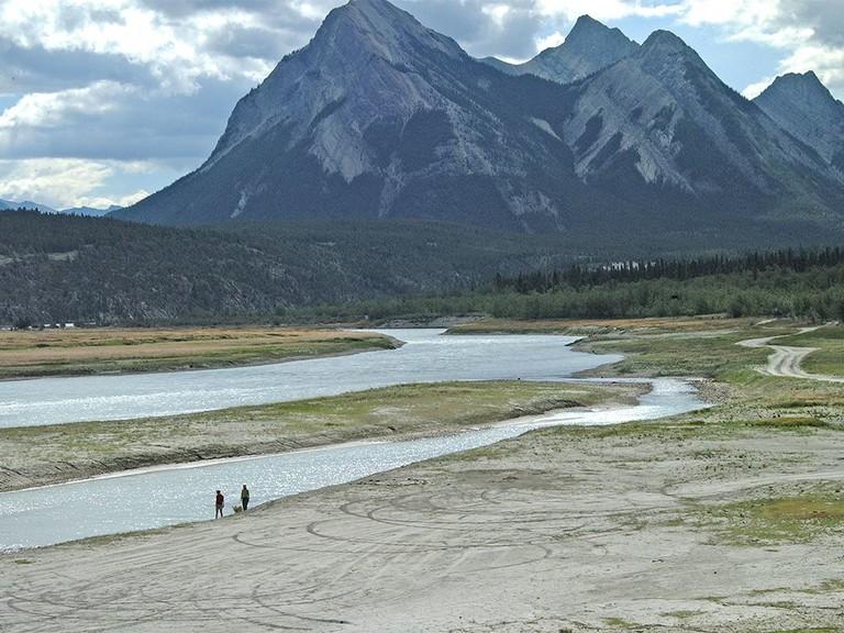 The North Saskatchewan River right below the Bighorn Dam.