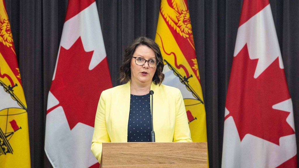 Dr. Jennifer Russell, chief medical officer of health, announced one new case of COVID-19 on the five-month anniversary of the pandemic in New Brunswick.