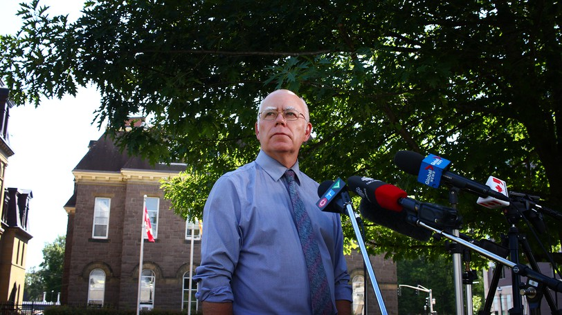 Green party Leader David Coon is pictured campaigning in last September's provincial election.