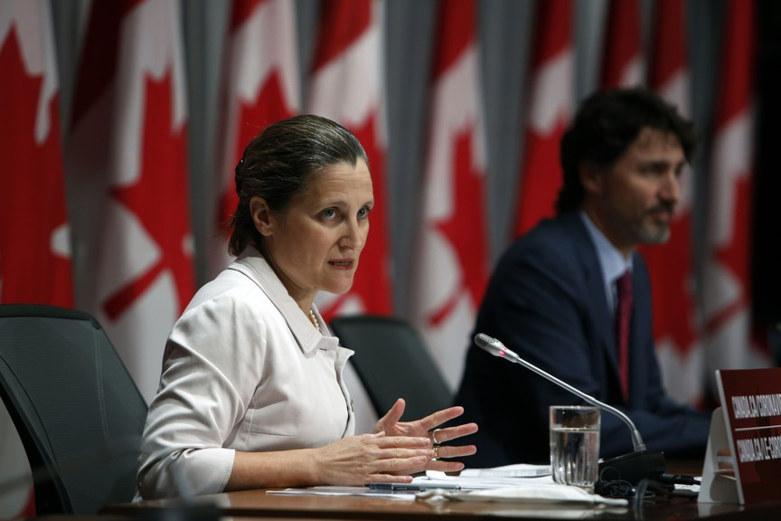 Finance Minister Chrystia Freeland is overseeing an astronomical increase in spending, writes one letter writer.