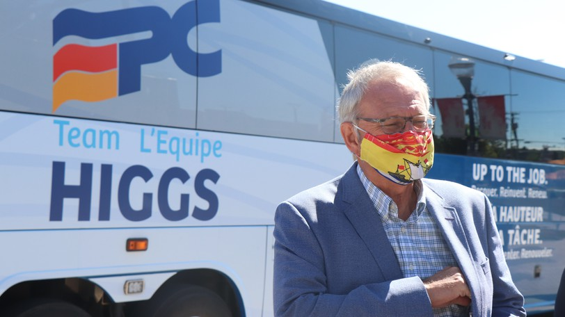 Progressive Conservative Leader Blaine Higgs campaigned in Moncton in this file photo. Ken McGeorge argues Higgs is right to want political partisanship out of health reform.