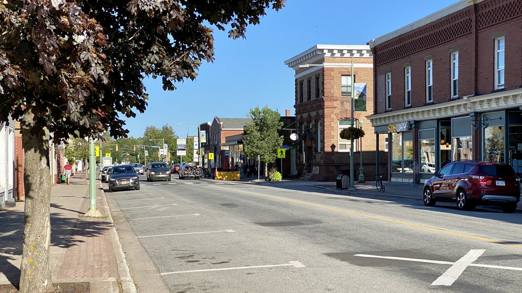 Main Street in downtown Sussex is seen Aug. 20, 2020. Police have arrested a man in connection to more than 15 reports of thefts from vehicles in the Main Street area over the weekend.