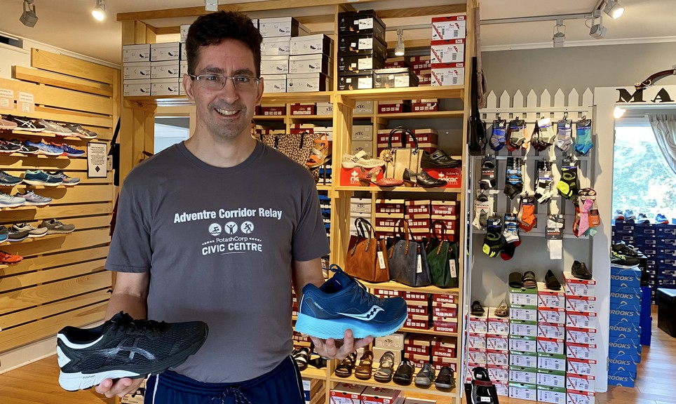 Alex Coffin, owner of Alex and Lily's Shoe Shoppe in Sussex, said the business is expanding to a third location in uptown Saint John on Feb. 1. A second location opened in Salisbury last month.