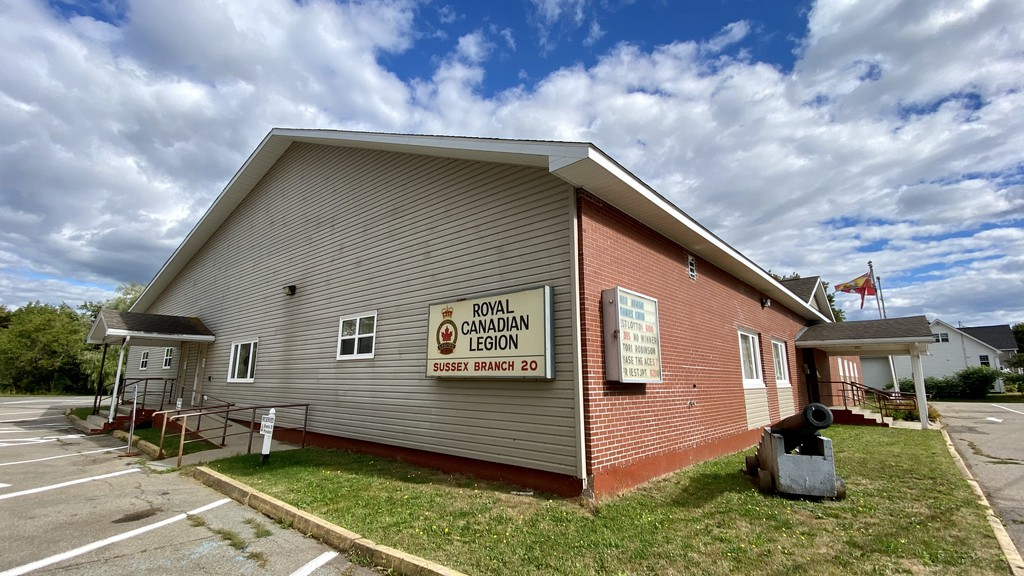 Royal Canadian Legion Sussex Branch 20 is seen in this 2020 file photo. Starting March 1, the legion branch will be booking appointments for freetax clinics for low income residents, and accepting tax return drop-offs.