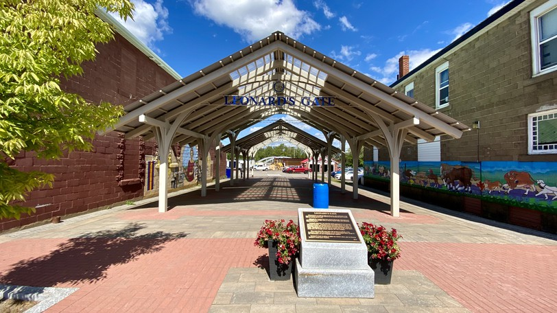 Leonard's Gate is seen in downtown Sussex Tuesday Sept. 1, 2020. Sussex CAO Scott Hatcher said the town is facing hundreds of dollars in repair bills after vandals damaged town property around the facility.