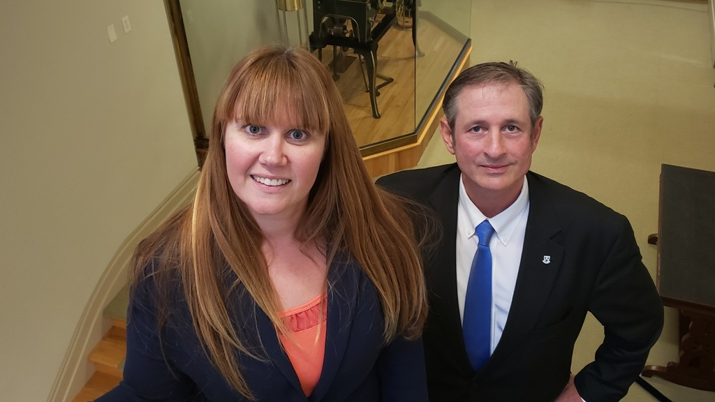 Acting city treasurer Alicia Keating and Coun. Greg Ericson, chair of the city's municipal finance and corporate administration committee,