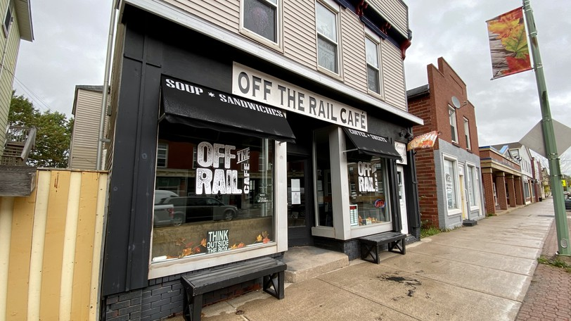 Off the Rail Café on Main Street in Sussex.