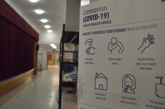 A New Brunswick Public Health poster shows COVID-19 etiquette.