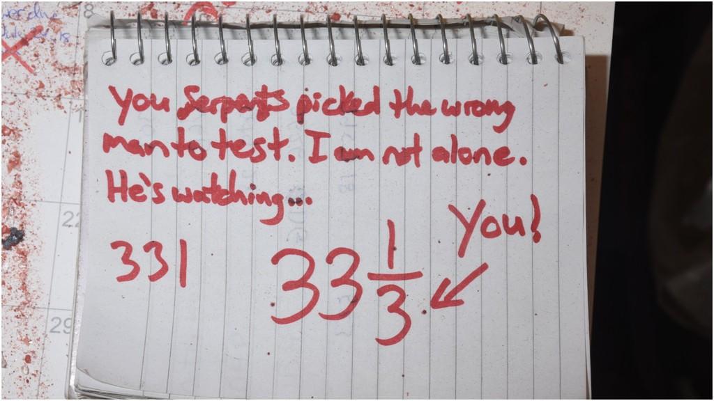 A note found in Matthew Raymond's bedroom.