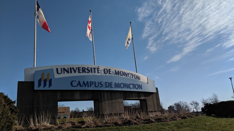 The Université de Moncton campus in Moncton. Federal parties must commit to increased support for Canadian universities, writes Hector Guy Adégbidi.