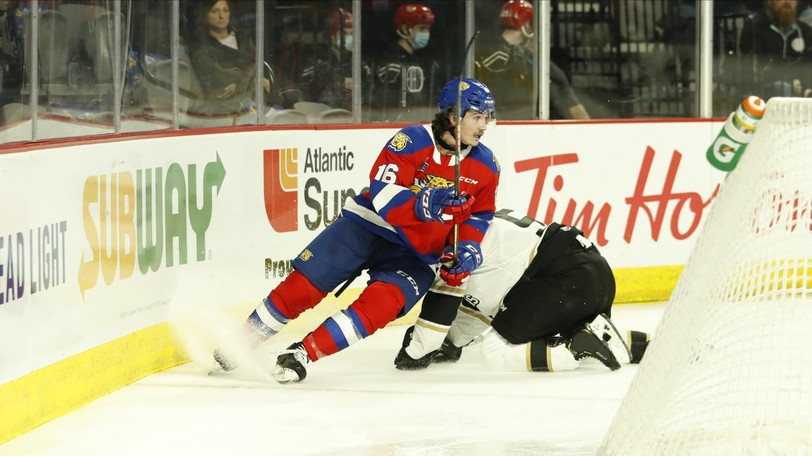 Moncton Wildcats right-winger Francis Langlois was a ninth-round pick in the 2018 QMJHL draft.
