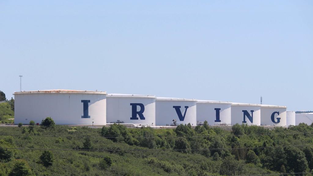Saint John's Irving Oil refinery.