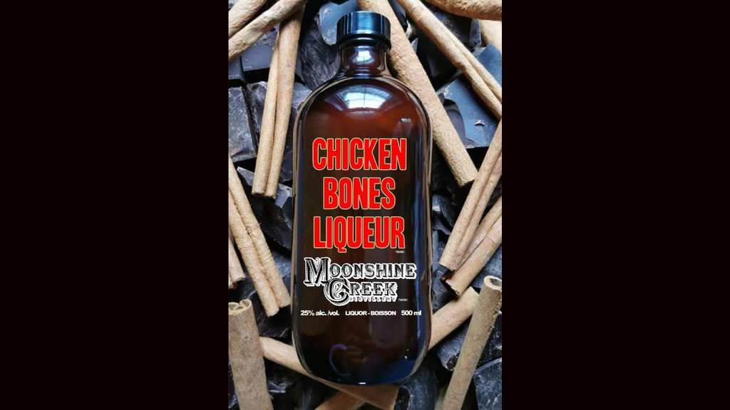 Moonshine Creek will donate $25,000 to food banks in Atlantic Canada from this year's sale of Chicken Bones Liqueur.