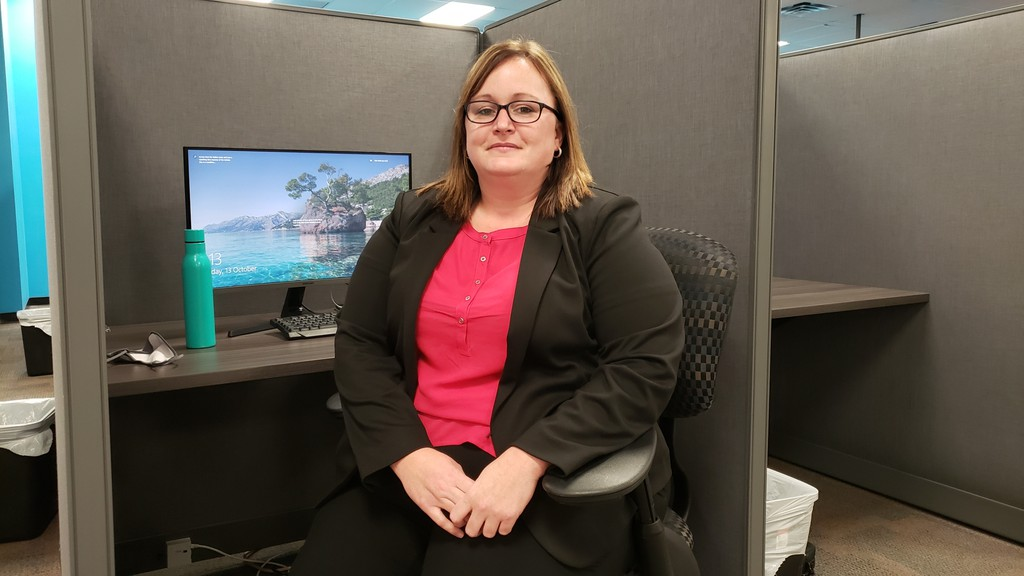 Nikki Bragdon of Fredericton is the site manager for the IO Solutions call centre in Brookside Mall.