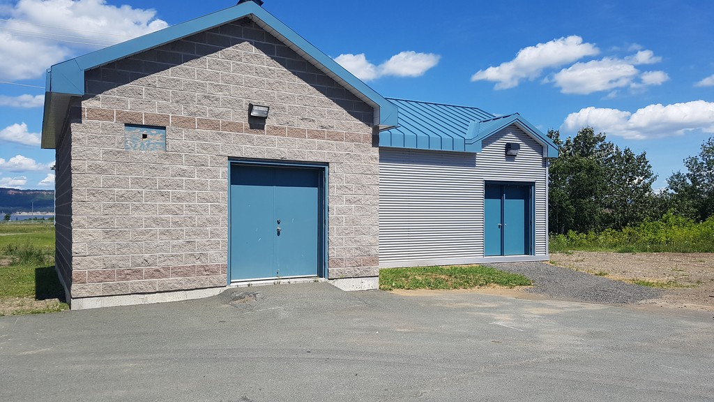 Dalhousie's hydroelectric turbine is in this building behind the town fire station. It is installed in the town's large water pipeline and ready to start, but due to COVID-19 the necessarily training and assistance from the Ontario manufacturer has been delayed yet again.