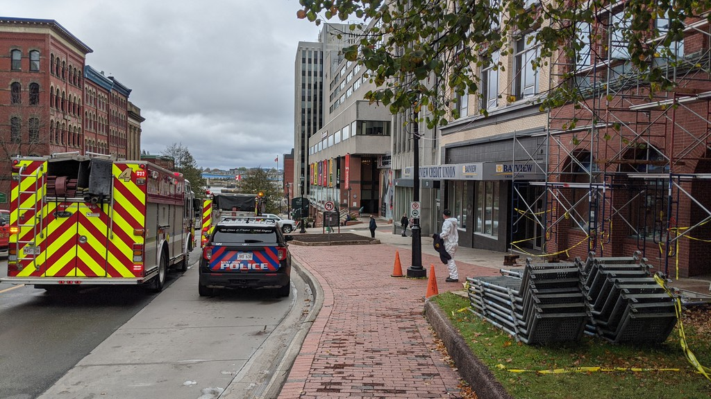 Fire crews rescued a man trapped in a basement on King Street on Oct. 14, 2020.