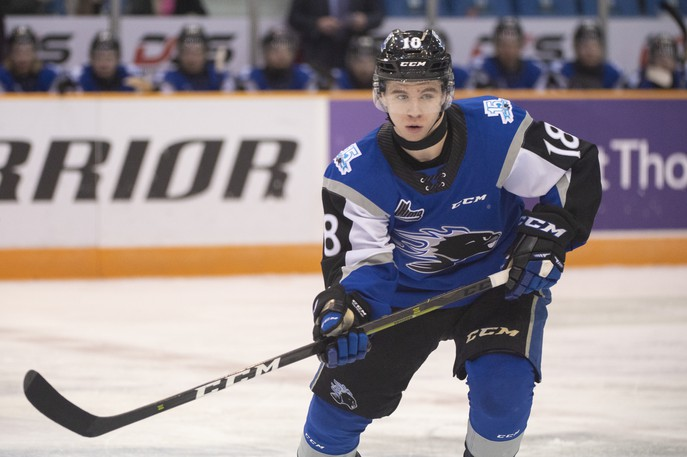 Fredericton's Josh Lawrence had a pair of assists for the Sea Dogs in Saturday's 5-2 loss to the Charlottetown Islanders.