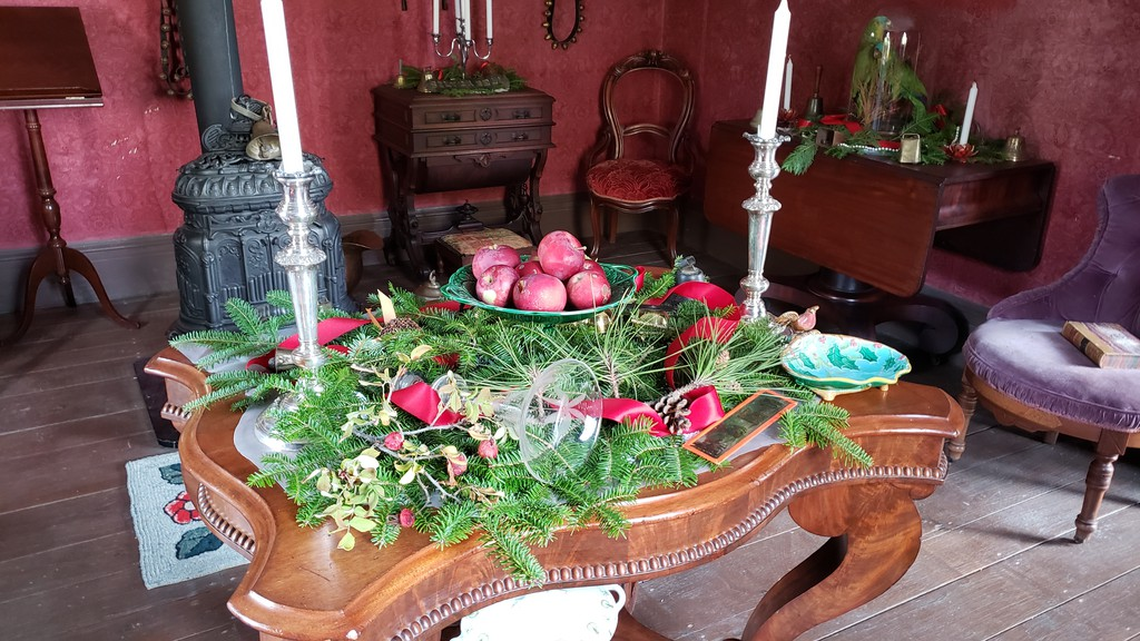 Victorian era Christmas decorations at the Perley House in Kings Landing Historical Settlement. The village is opening for the Christmas season this year.