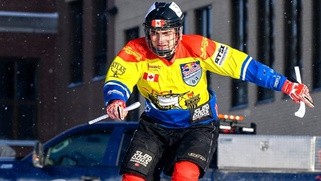Samuel Nadeau won the Course Xtreme Race Memramcook ice cross downhill event last February in Memramcook. This winter's event has been cancelled due to the COVID-19 pandemic.