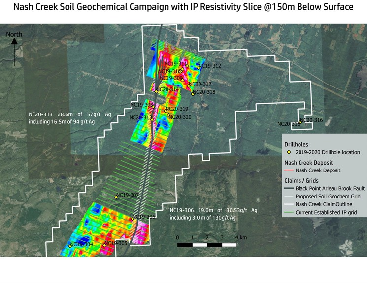 Vancouver-based mining companyCallinex Mines Inc. says that it has completed a soil sampling project at its Nash Creek Project in the Bathurst Mining District near Belledune.