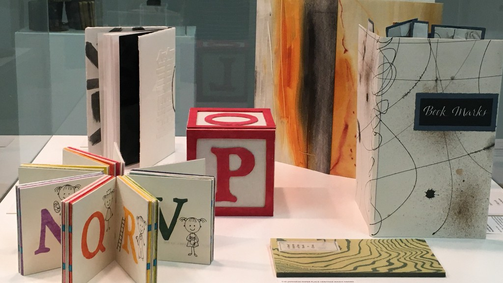 Pieces featured in the Canadian Bookbinders and Book Artists Guild exhibit, currently being hosted at the Andrew and Laura McCain Art Gallery in Florenceville-Bristol.