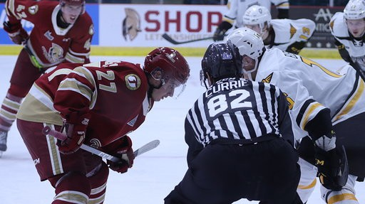 The Acadie-Bathurst Titan clipped Cape Breton's wings Friday night in Quebec Major Junior Hockey League action to take the first of a pair of weekend home games against the Eagles.