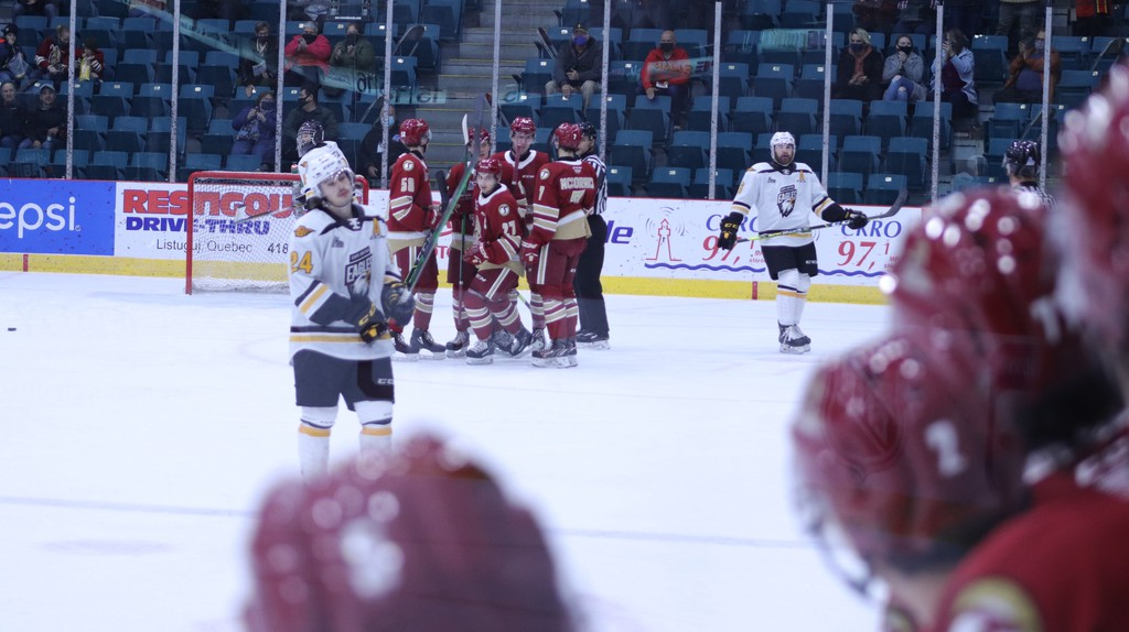 Bathurst beat Cape Breton 8-1 at the K.C. Irving Regional Centre in Bathurst Saturday, and marking their second win in as many days after beating the Eagles 6-4 the previous night at home.